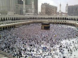A Last day of Hajj - all pilgrims leaving Mina, many already in Mecca for farewell circumambulation of Kaaba.