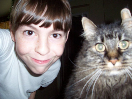 Matthew and Lucky, a few years ago