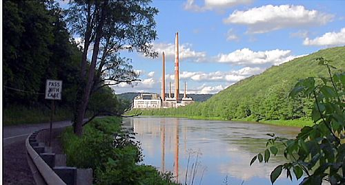 Shawville Power Plant in Shawville, PA. Home to over 600 jobs yet set to close starting in 2015.