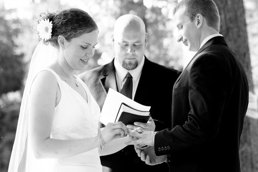Vows are the central part of a marriage ceremony. They should be meaningful to both of you. Consider writing your own vows together as a couple...we did it! You can too with our 5 tips.