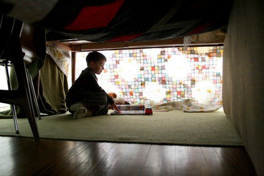 Help your kids build a blanket fort and camp out in the living room for Earth Hour.