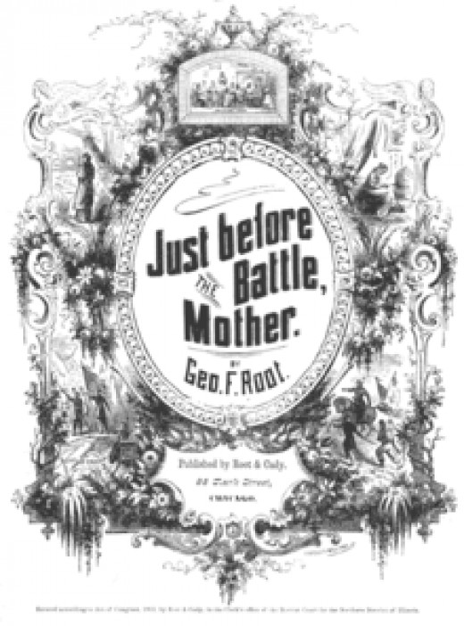 Songsheet - Just Before The Battle, Mother, by George Root