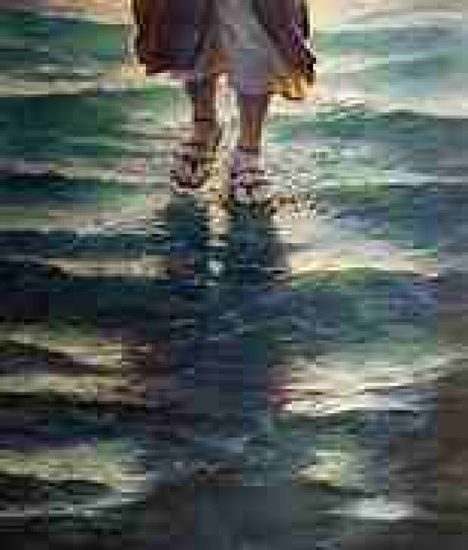 Jesus walks on water and He will walk with us.