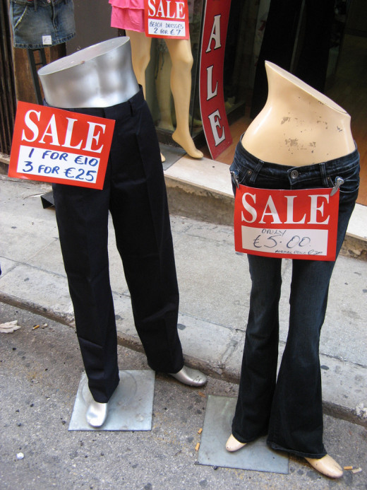 Typical retail math... Who wouldn't need 3 of the same trousers?