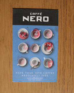 A loyalty card from Caffé Nero