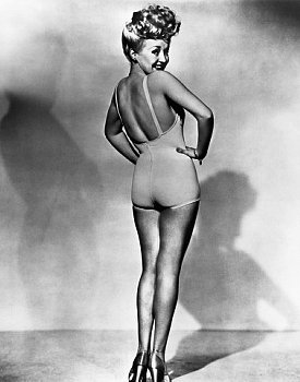The most- famous hot blond of all- time: Betty Grable