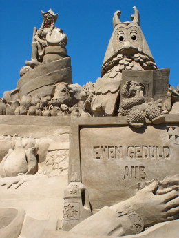 At least if you get tired and decide to use another style, you can build a sweet sand sculpture.