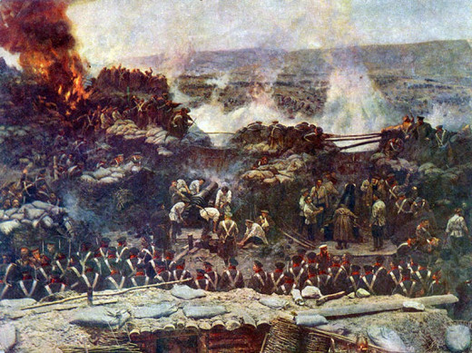 Franz Roubaud. Detail of his panoramic painting The Siege of Sevastopol (1904).