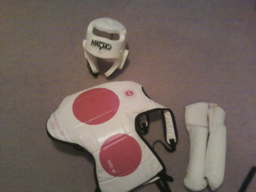 When sparring, such as in taekwondo, practitioners are often encouraged to wear sparring pads for their own and their partner's protection.
