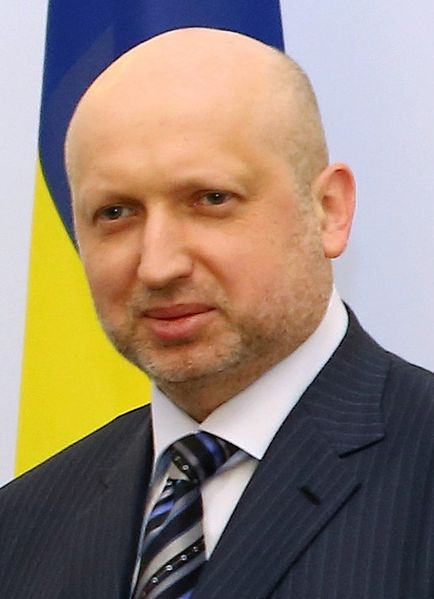"Oleksandr Turchynov, Ukraine's interim President, described Crimea's secession from the Ukraine, as ""a great farce"", though he refused to launch any military action against Russian soldiers in Crimea."