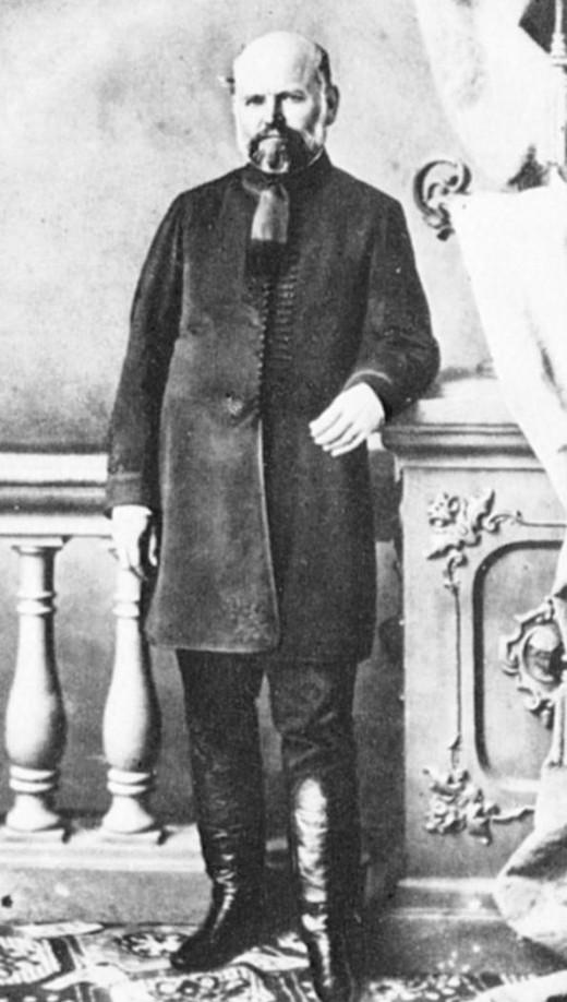 The father of handwashing, Ignaz Semmelweis.