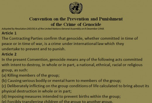 UN declaration on Genocide