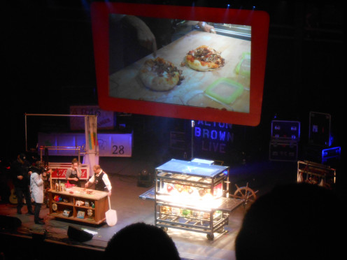 The pizza he and a lovely lady from the audience made in his own Easy Bake Oven!