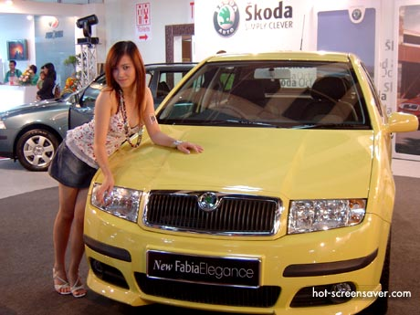 Skoda Fabia Elegance in the showroom