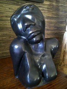 African Woman's Bust/Bronze