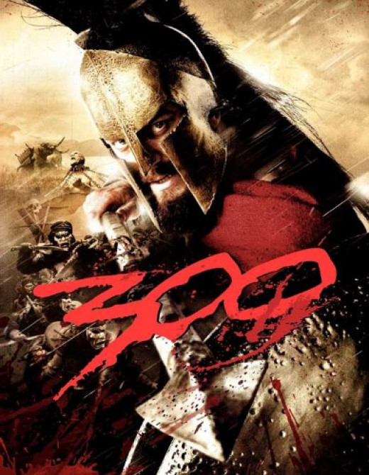 300 Poster Movie L 27x40 Gerard Butler Lena Headey David Wenham