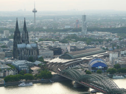 Cologne Cathedral, Central Station and Hohenzollern Bridge