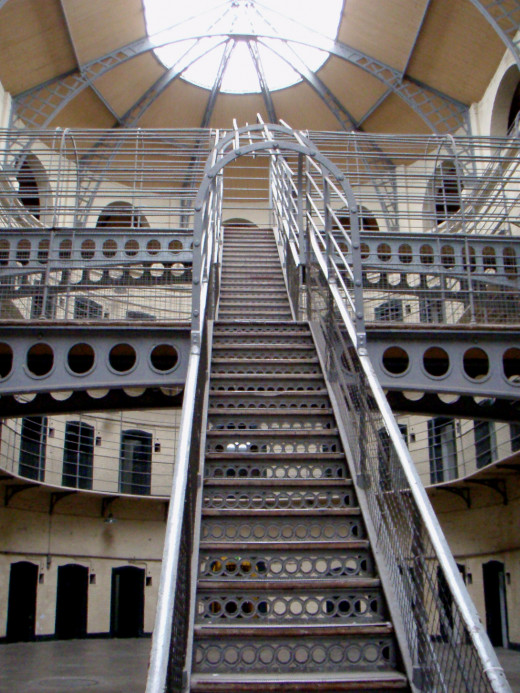 Inside of the jail.