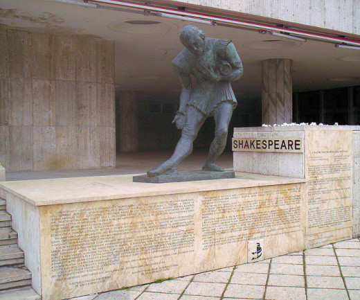 William Shakespeare Statue in Budapest, Hungary