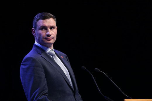 Vitali Kltschko, who according to recent polls is the most popular candidate for Ukraine's next President