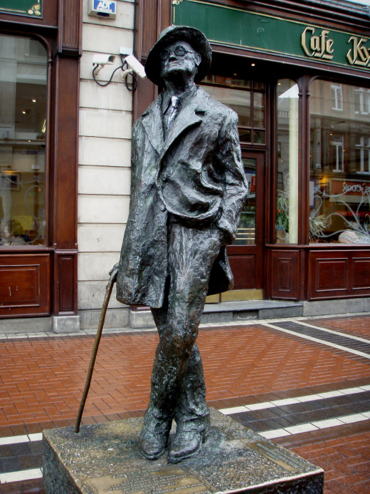 Statue of James Joyce.