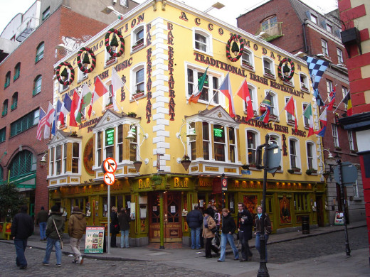 Temple Bar has the best Irish pubs.  You might just feel like a local.