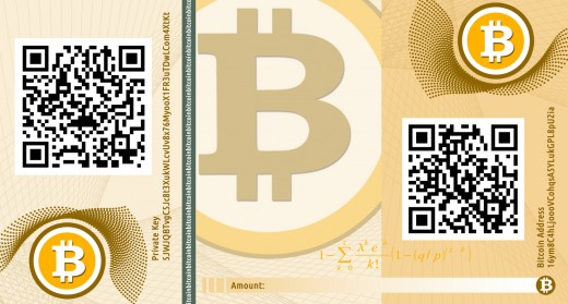 This is an example of a Bitcoin paper wallet.