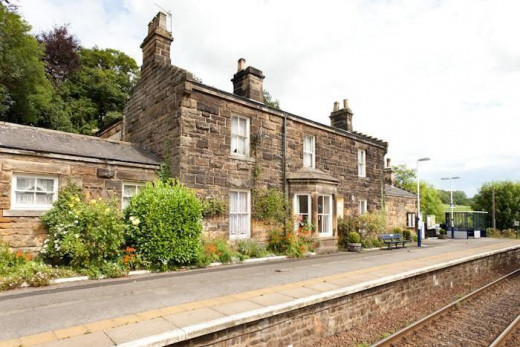 The five bedroom station house is on offer at Egton Bridge. The line has about five trains a day each way in summer with steam specials from Grosmont down the line.to Battersby.