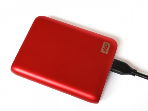 A portable hard drive such as this one can be used to place your Bitcoins in deep cold storage.