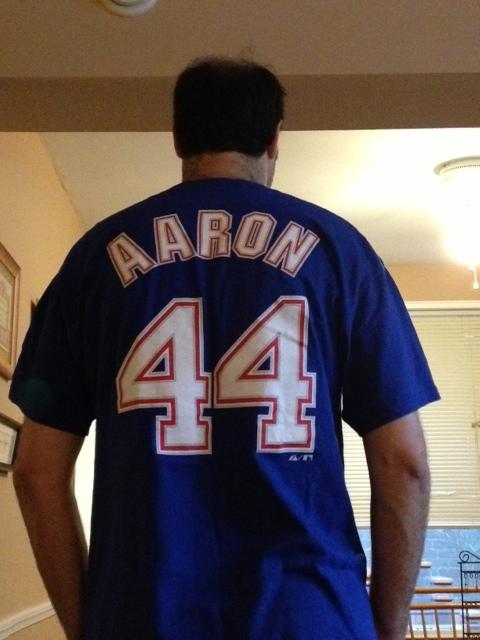 My Hank Aaron jersey