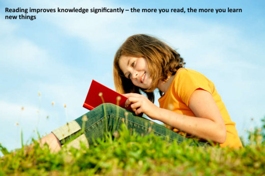 Reading books improves knowledge