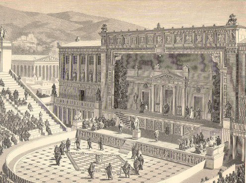 Sketch of the Theater of Dionysus