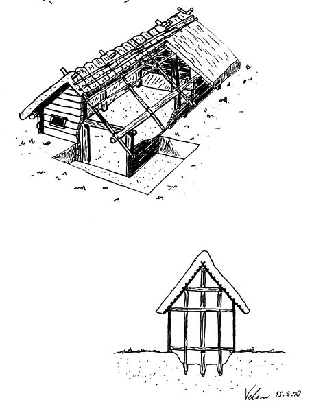 A Blue Print of A Pit House