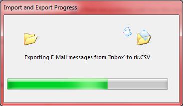 Export E-mails to CSV