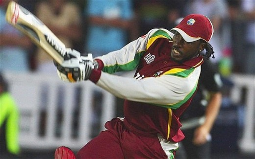 West Indian cricketer Chris Gayle. One of the world's most destructive batsmen.