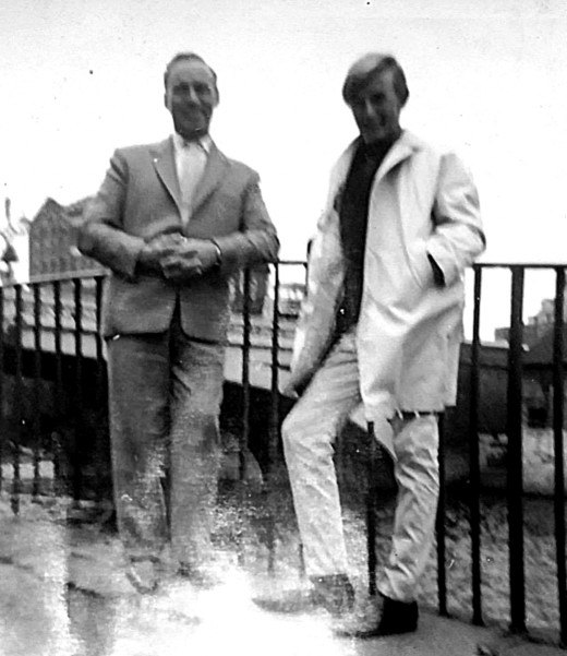 My brother in the 1960s, pictured with our dad on a day out. Looking back, I reckon my brother looked pretty cool!