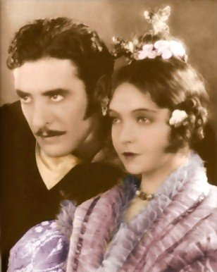 With Lillian Gish in La Boheme