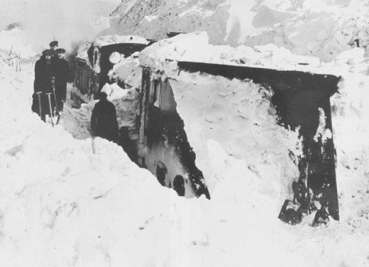 Inundated snowplough - this one is one of the Darlington allocation at Stainmore, (highest railway line in England)
