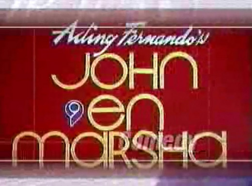 Title Card of John en Marsha airing from 1973 until 1990.