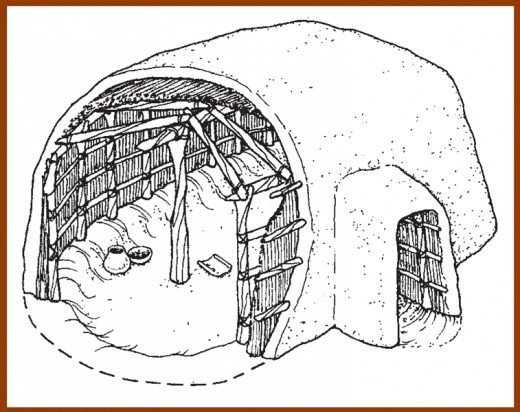An Illustration Of A  Hohokam Pit House