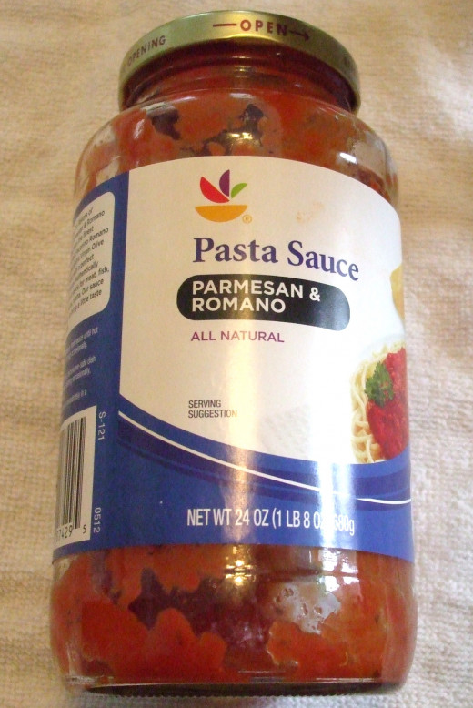This is store brand pasta sauce with cheeses included.