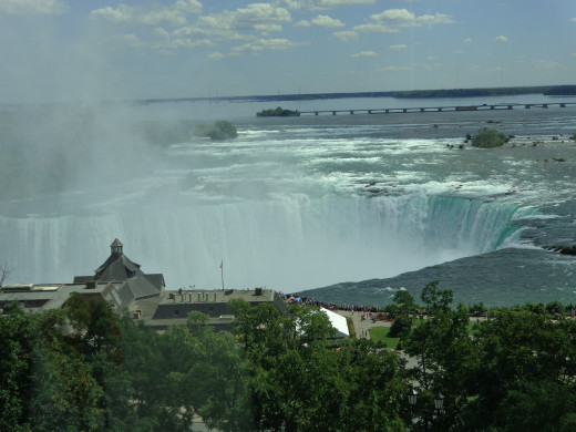 View of Niagara Falls from Hotel Restaurant