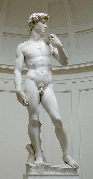 Michelangelo's David (original statue) http://en.wikipedia.org/wiki/File:David_von_Michelangelo.jpg