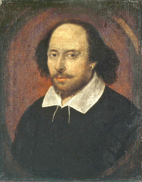 William Shakespeare oil painting http://en.wikipedia.org/wiki/File:Shakespeare.jpg