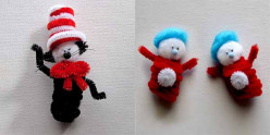 Dr. Seuss / Cat in the Hat / Thing One Thing Two crafts.