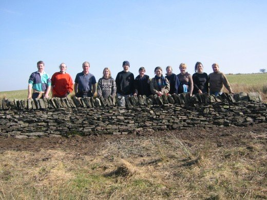 The Working Holiday Group with our wall.
