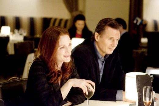 Julianne Moore and Liam Neeson star in Non-Stop, a thriller about a hijacking aboard a transoceanic airliner.