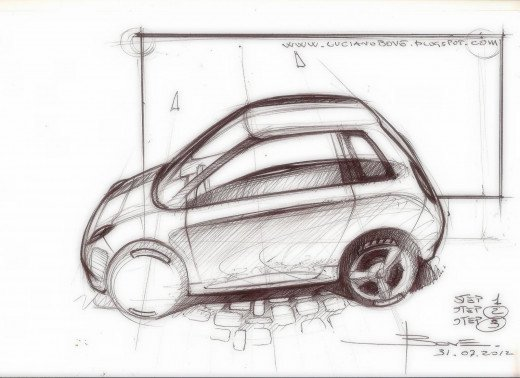 Car sketch tutorial by Luciano Bove