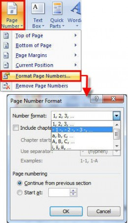 microsoft word how to start page numbers on page 2