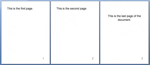 Sample Page Numbering